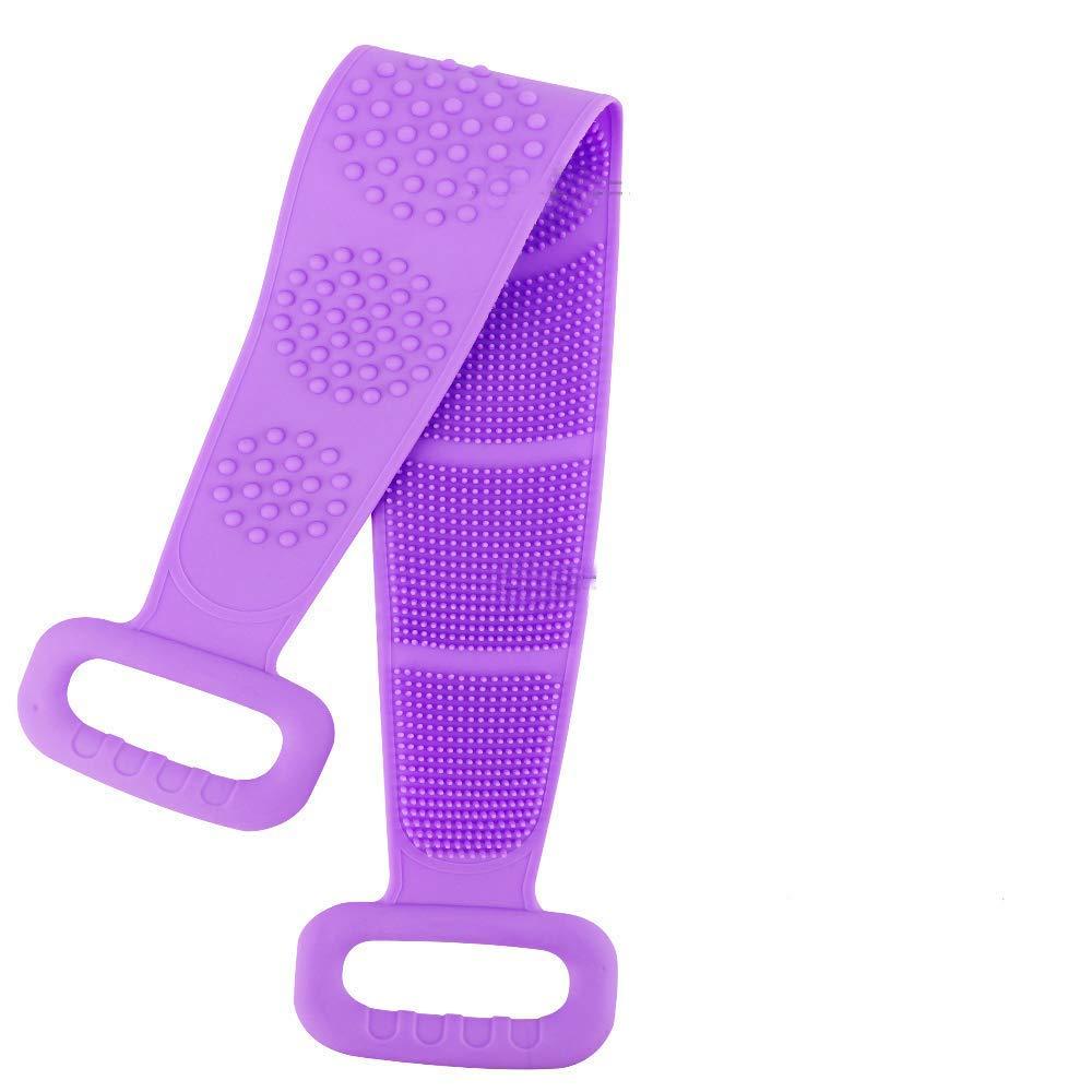 Silicone Bath Body Brush,Back Scrubber for Shower Silicone Body Scrubber Bath Shower Towel for Men Women (Purple)