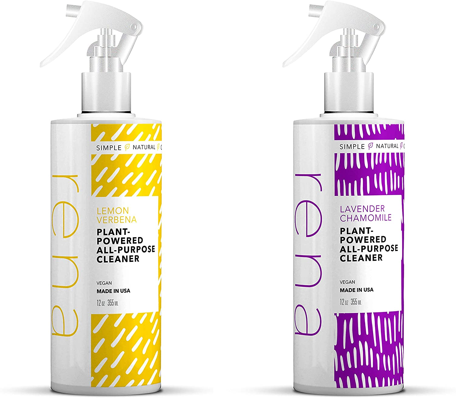 Rena Plant-Powered All-Purpose Cleaner Pack of 2 – Lavender Chamomile & Lemon Verbena – Essential Oils, Eco Friendly Ingredients, Zero Toxic Chemicals – 12 Oz.