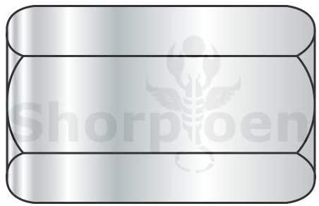 3/8-24X1 1/8 Hex Rod Coupling Nut 1/2 inch Across Flats Zinc - Box Quantity 200 by Shorpioen BC-381808NCUP