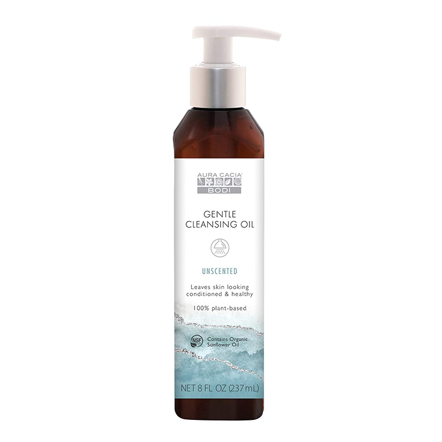 Aura Cacia Bodi Unscented Gentle Cleansing Oil   GC/MS Tested for Purity   240ml (8 fl. oz.)