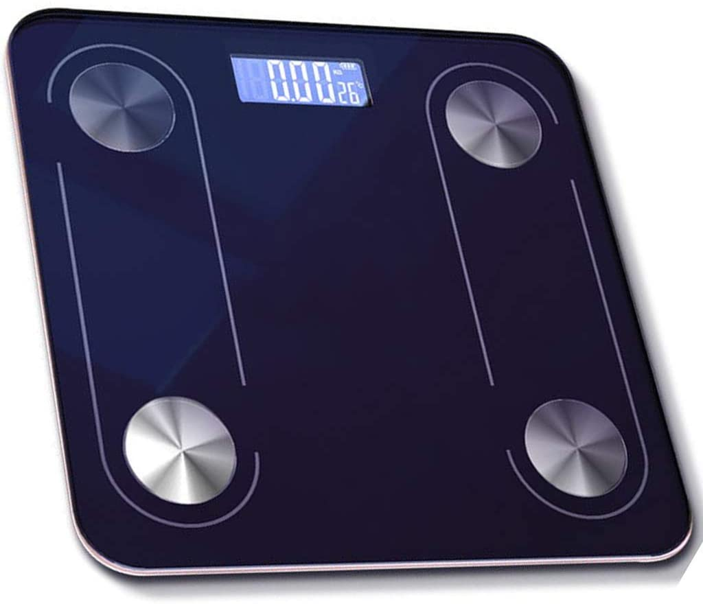 Bluetooth Body Fat Scale, Wireless Digital Bathroom Scale 25 Measurements Weight Body Fat BMI Fitness Body Composition Analysis, Max 396lbs/180kg,Blue