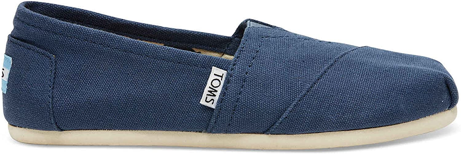 TOMS Womens Classics Navy Canvas 001001B07-NVY Womens 8.5