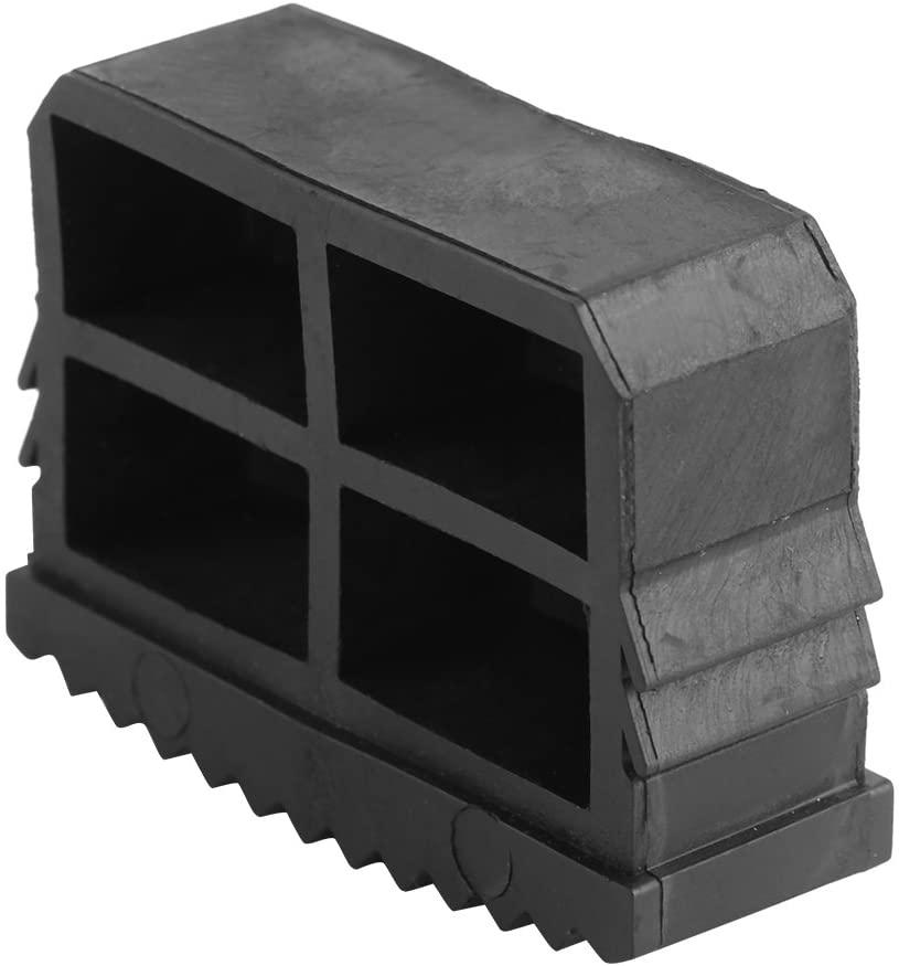 TOPINCN Non Slip Ladder Feet Rubber Replacement Step Ladder Feet Foot Mat Cushion Sole Security Black 2Pcs