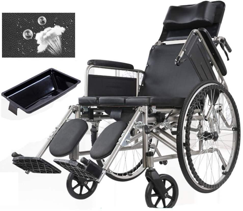 JN Shower seat Bathroom Rolling Shower Wheelchair, Portable Bedside Commode Toilet Seat, Adjustable Backrest, for Bathroom, Outdoor, Adults, Handicap, Elderly Wheeled Non-Slip Toilet Chair