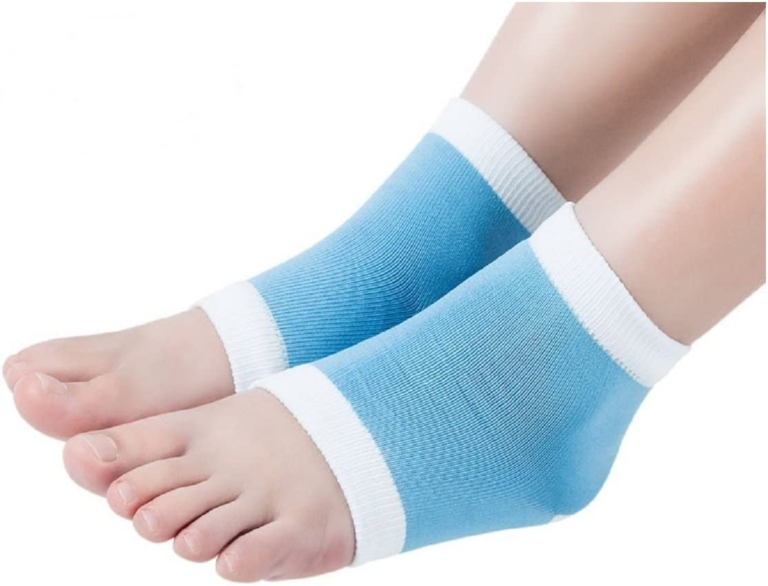 Open Toe Gel Silky Socks for Foot Therapy & Theraputic Moisturizing Foot Socks