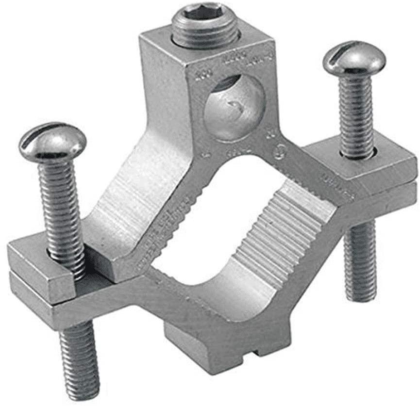 Ilsco AGC-1 AL MEC 1/2-3/4-1 GND 1/0-14 W UL, Silver