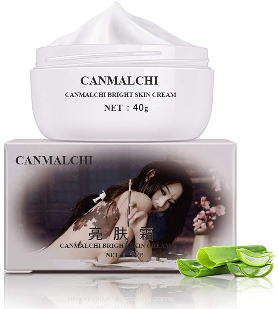 CANMALCHI Polyester Bright Skin Freckle Whitening Cream White Dark Spot Remover Skin Lightening Cream Dark L,White