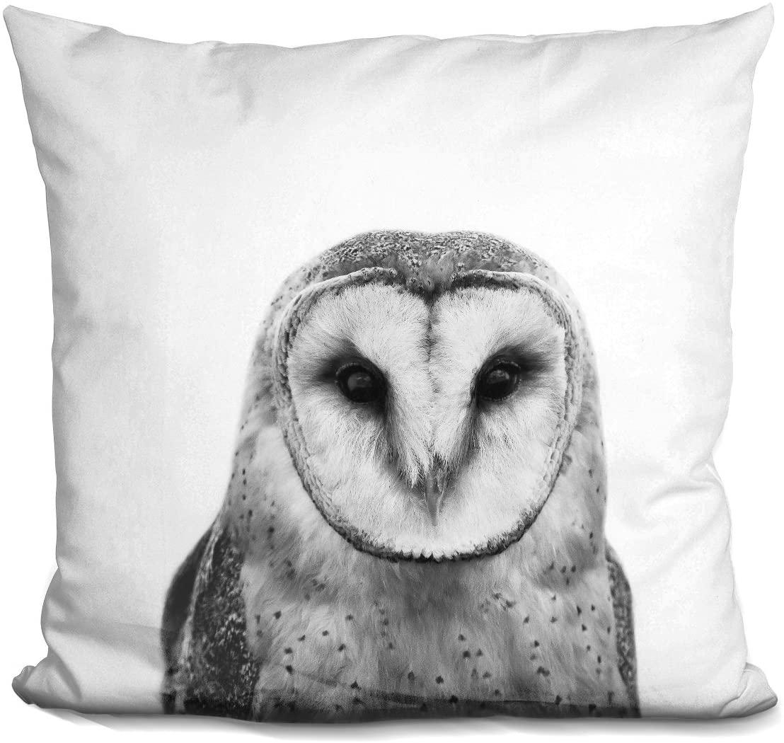 LiLiPi Owl Bw Decorative Accent Throw Pillow