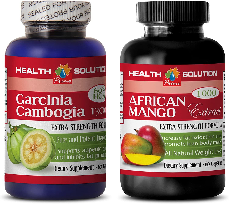 Weight Loss Nutrition Program - Garcinia CAMBOGIA - African Mango - Combo - African Mango for Weight Loss - (2 Bottles Combo)