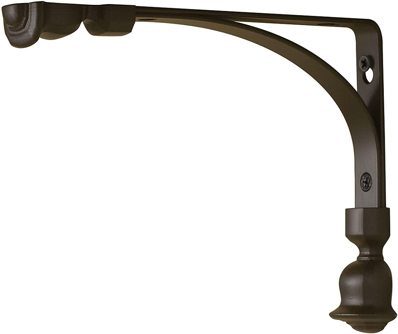 Rubbermaid 1877655 Decorative Shelf Bracket, 6 by 8-Inch, Tulip, Bronze