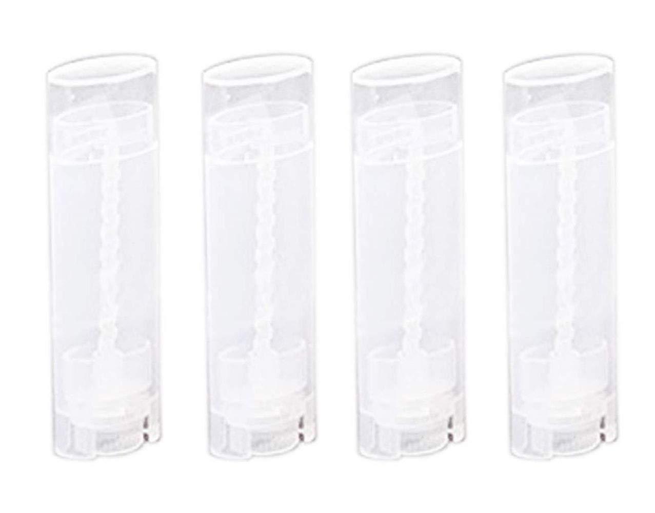 24PCS 5ML BPA Free Transparent Empty Plastic Oval Lip Balm Tubes Lipstick Bottle Deodorant Containers For Lip Balm DIY Homemade Crayon Chapstick