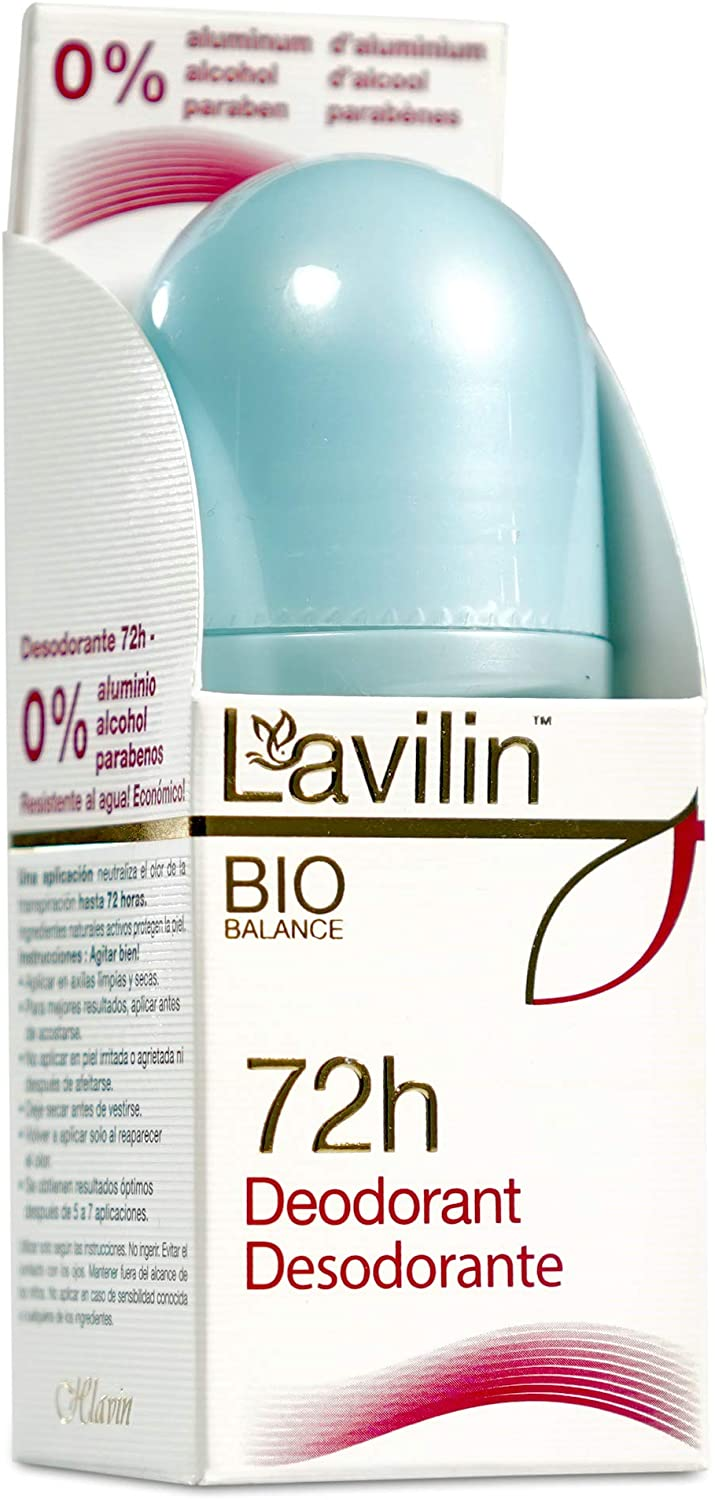 LAVILIN Roll On Deodorant for Women and Men - Aluminum Free Deodorant with Up to 72 Hour Long-Lasting Protection and Odor Control – Alcohol, Paraben and Cruelty FREE Sensitive Skin deodorant (2 oz)