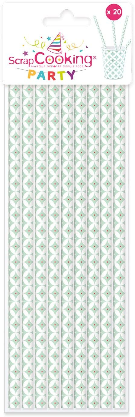 ScrapCooking Party Paper Straw (201 Pack), Multicolor