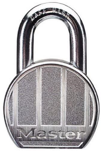 Master Lock 230DPF Zinc Round Padlock, Keyed Different, 2-1/2-inch