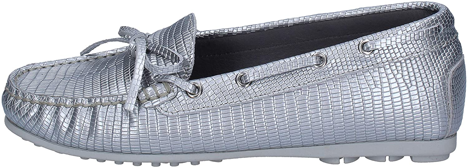 K852 & SON Loafers-Shoes Womens Leather Silver