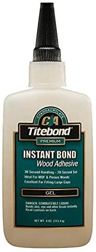 Titebond Instant Bond Wood Adhesive, Gel 4 oz