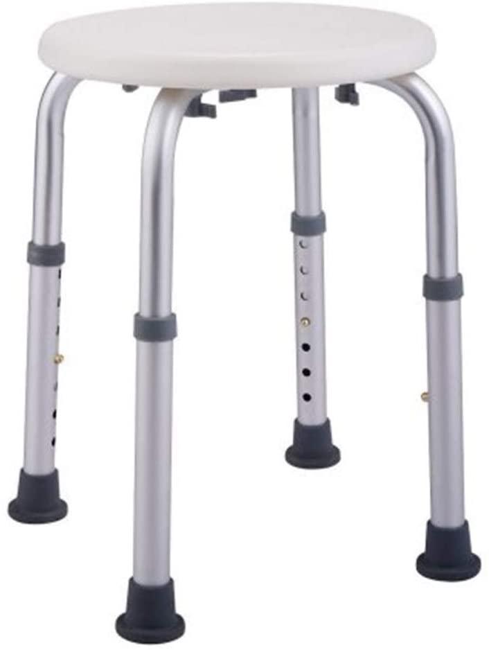 SPDTAILS Round Shower Stool,Height Adjustable Bath Stool Bathtub Seat Bench with Non-Slip Seat for Elderly, Senior, Handicap and Disabled