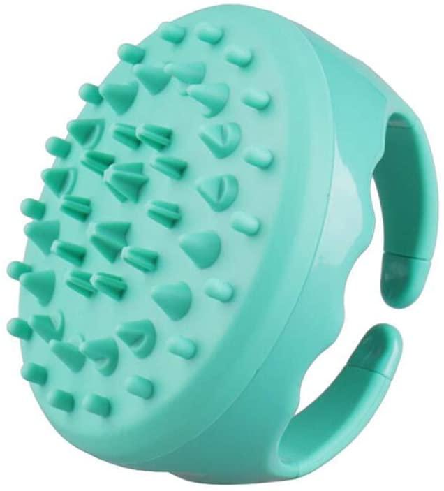 1 Pc Silicone Massage Brush Head Massager Brush Bath Silicone Hair Bath Brush Multi Function Meridian Health Beauty Massage Brush Bath Supplies Green
