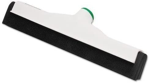 Unger PM45A Sanitary Standard Floor Squeegee, 18 Inch Blade, White Plastic/Black Rubber