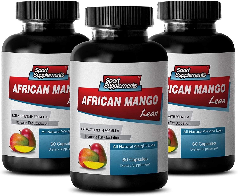 Lose Weight Supplement - African Mango Extract with Green Tea, Resveratrol, Kelp, Grapefruit 1200 Mg - Pure irvingia gabonensis - 3 Bottles 180 Capsules