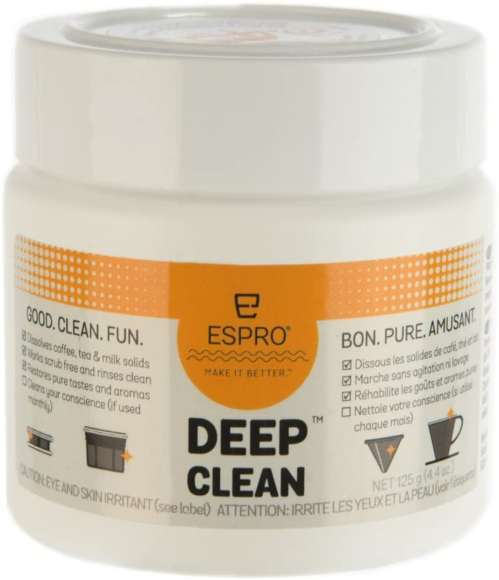 ESPRO Deep Clean Coffee and Tea Micro-filter Cleaning Powder, 4.4 Ounce