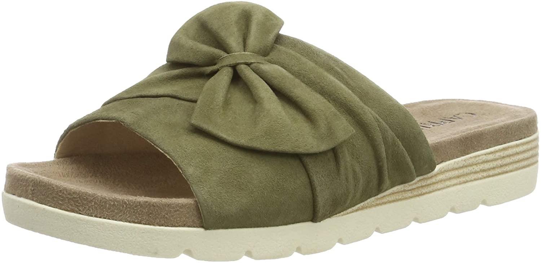 Caprice Women's Gipsy Mules, Green (Khaki Suede 720), 7.5 UK