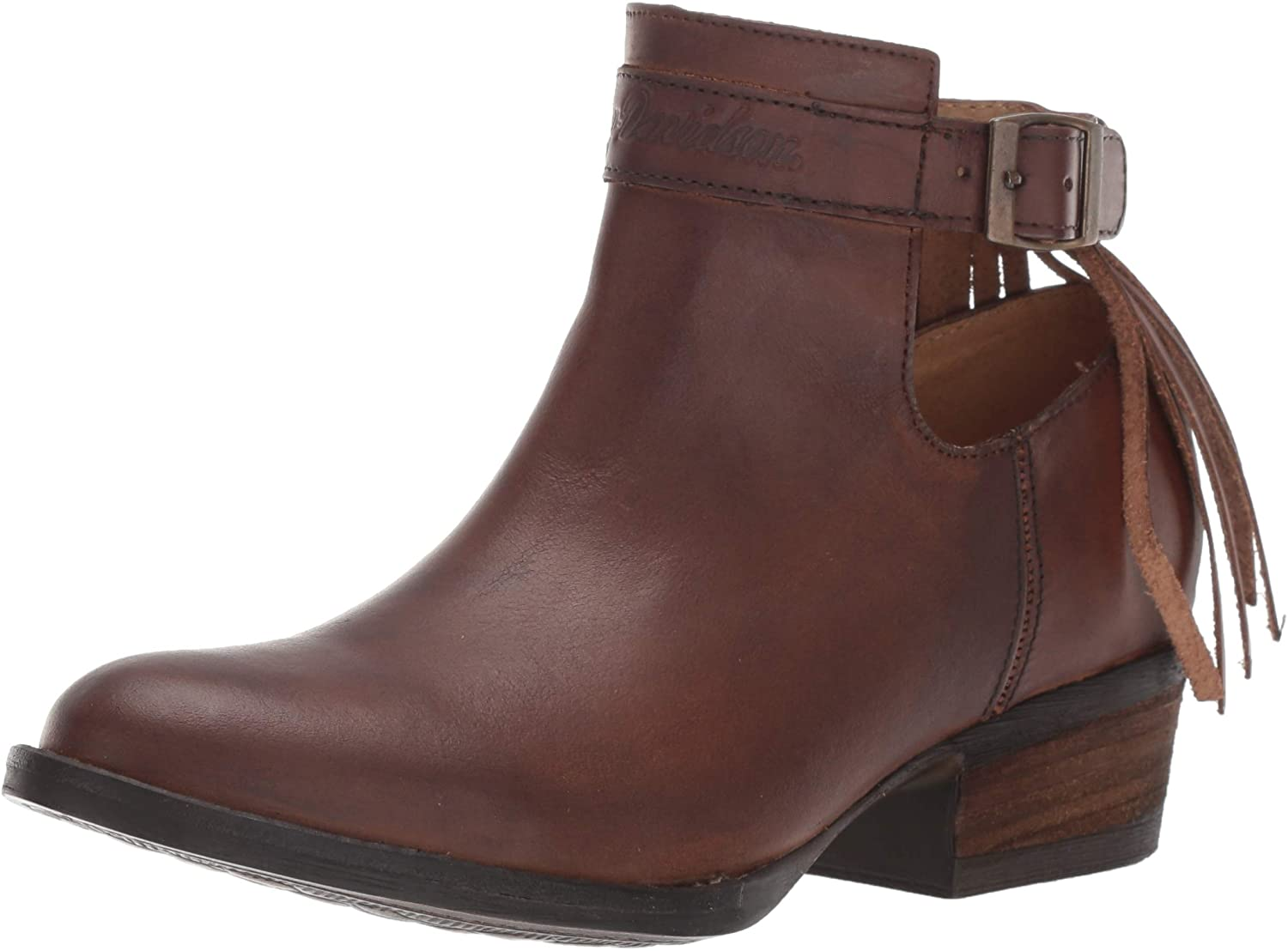 HARLEY-DAVIDSON FOOTWEAR Women's Amory Boot, Brown, 08.5 M US