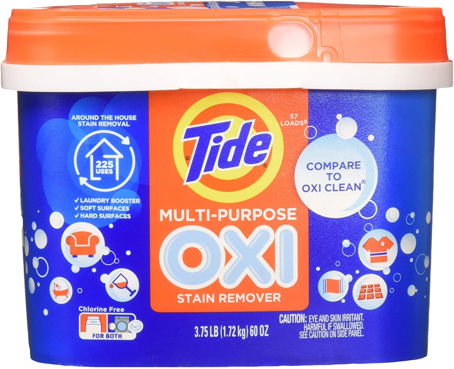 Tide Powder with Oxi Multi Stain Remover 60oz/47ld (Pack of 1)