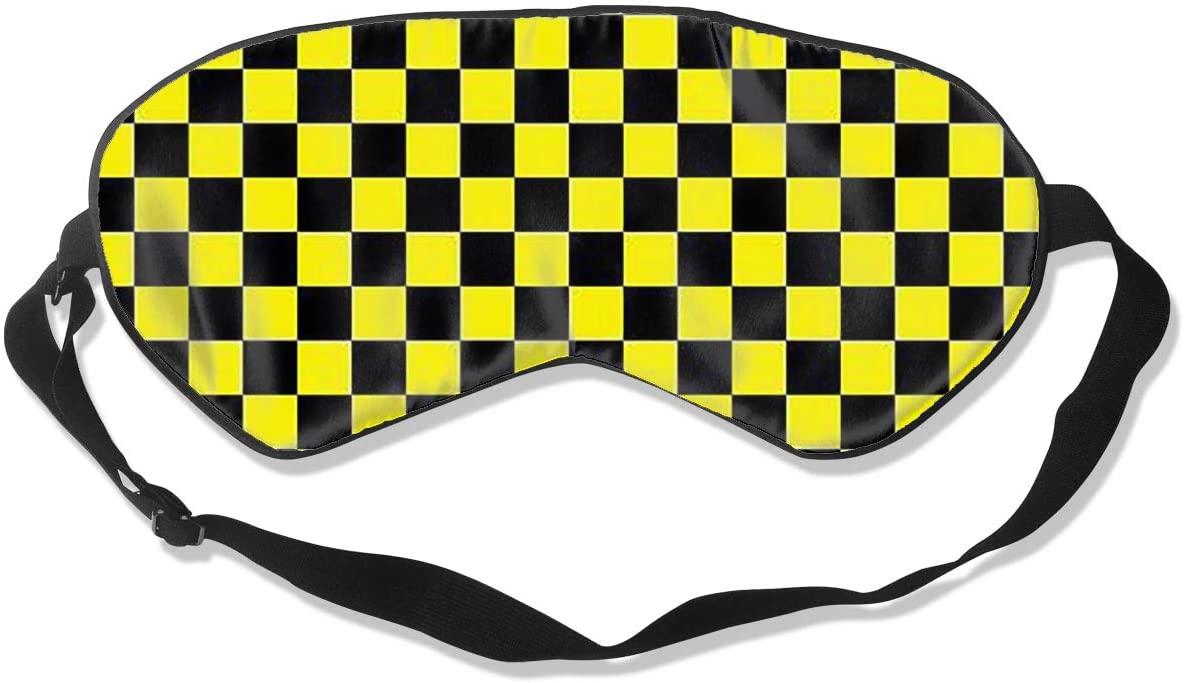 Checkerboard Women Men Eye Shade Cover for Sleeping,Eye Mask for Night Sleep