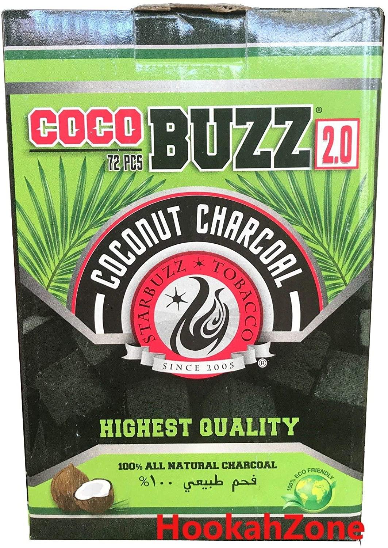 Starbuzz Cocobuzz 2.0 Hookah Shisha Charcoal 72pieces