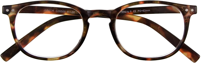 I NEED YOU Readers Junior Slimline Retro Reading Glasses +1.5 Havana
