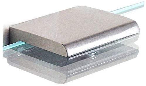2pcs Adjustable 304 Stainless Steel Glass Clip Clamp Shelf Holder Bracket Support 0.23