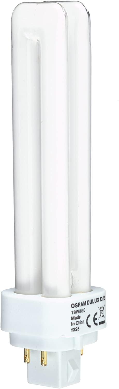 Osram 18W Dulux D/E 4-Pin 830 [3000K] Warm White Colour