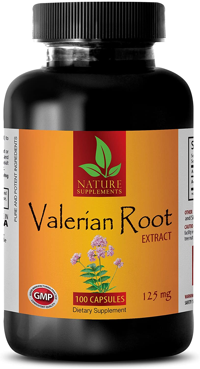 Blood Pressure Down - Valerian Root Extract 125 MG - Dietary Supplement - Valerian Capsules - 1 Bottle (100 Capsules)