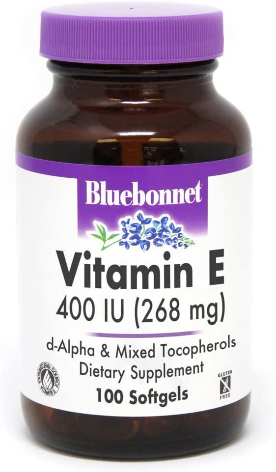 Bluebonnet Nutrition Vitamin E 400 IU d-alpha and Mixed Softgels, 100 Count