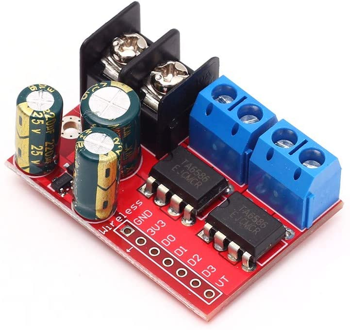 5A Motor Drive Controller Board Module, Dual H Bridge DC Stepper Module Speed Regulation Double-H-Bridge Board