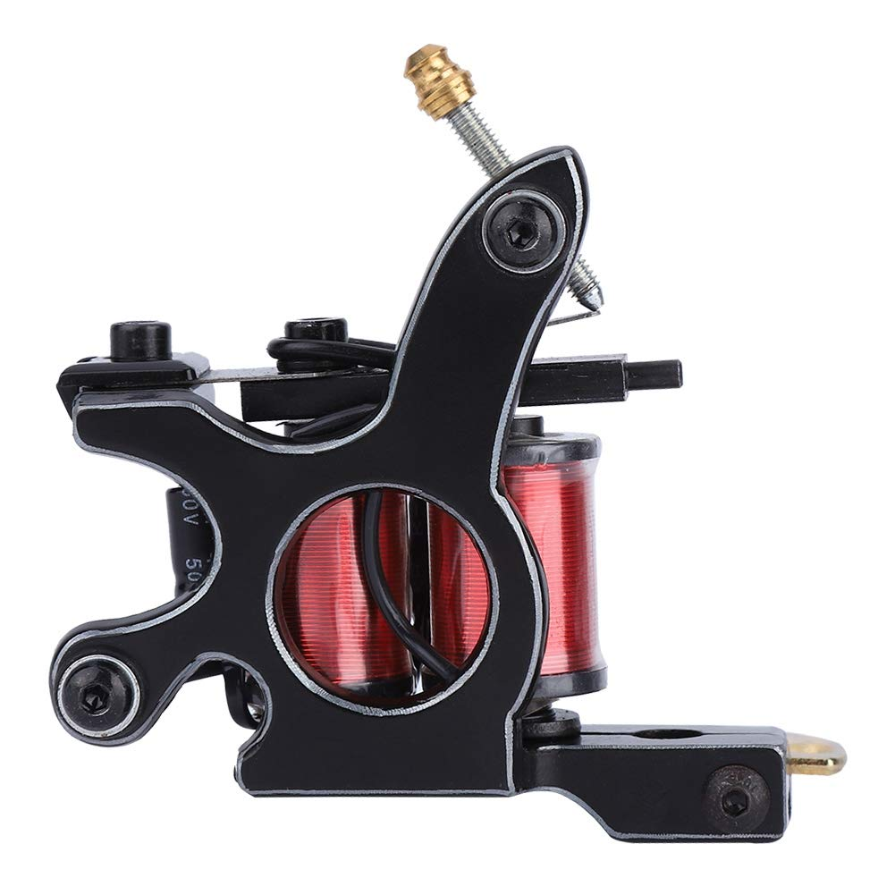 Tattoo Machine - Fashion Silver-edged Classic Tattoo Machine Strong Motor (Large Coil with Pointed Head)