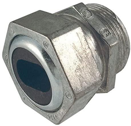 Hubbell-Raco 2468-5 Connector, UF Wire, 2-Inch Trade Size, UF Wire (3#4/0), Liquid Tight, Zinc