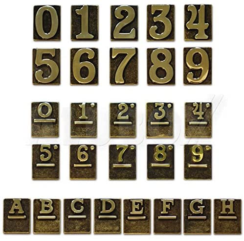 Alubox 2747802 Civic Numbers Polished Brass