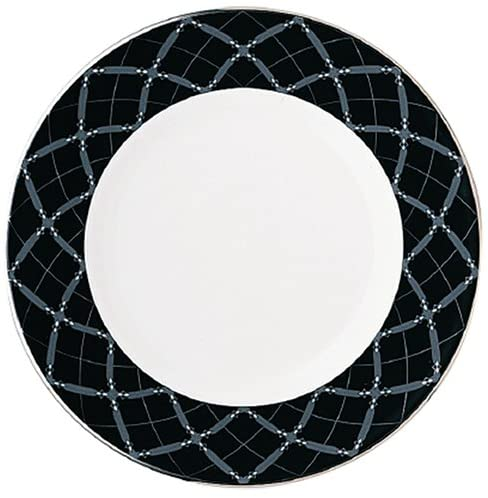 Lenox Diamond Solitaire Platinum Banded Bone China Accent Plate, 9-Inch