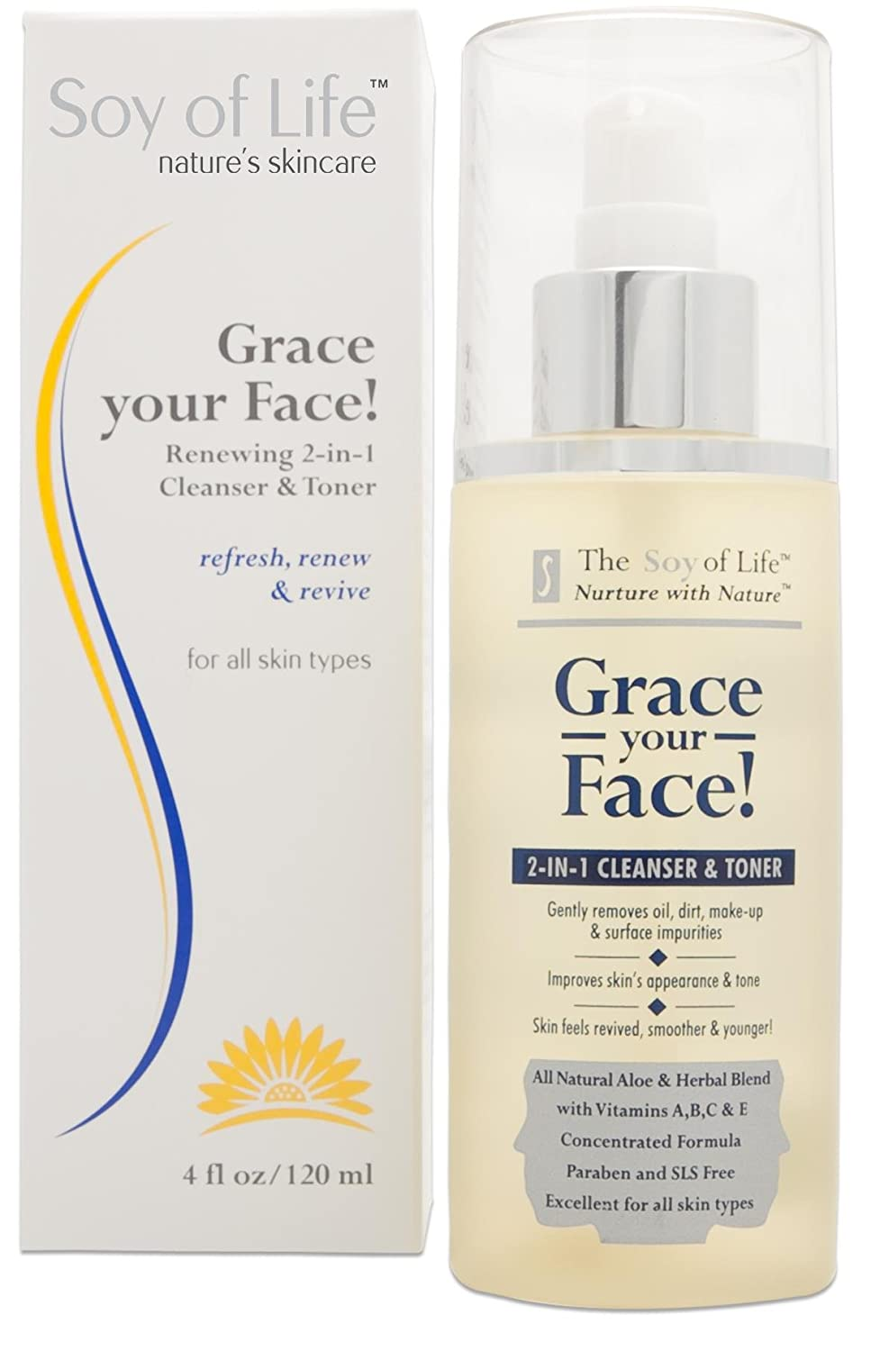 Grace Your Face 2-in-1 Cleanser and Toner 4 Ounces