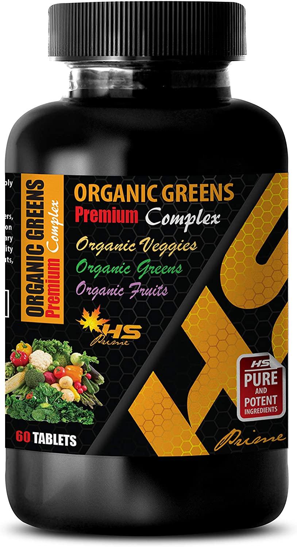 antioxidant Supplement for Women - Organic Greens - Premium Complex - Barley Grass Supplement - 1 Bottle 60 Tablets