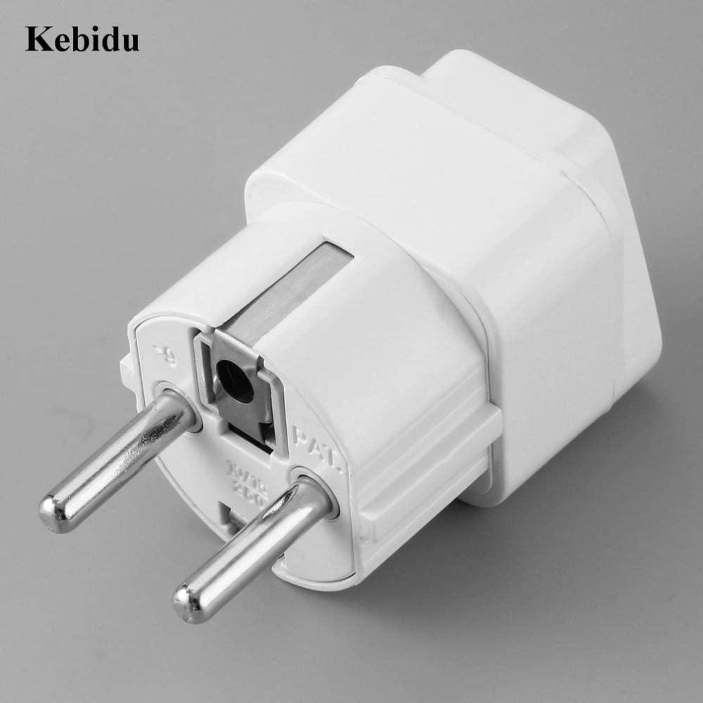 Xennos Wholesale Universal US AU UK to EU Plug Electrical Plug Travel Adapter Converter Wall AC Power Adapter 250V 10A Socket - (Plug Type: EU)