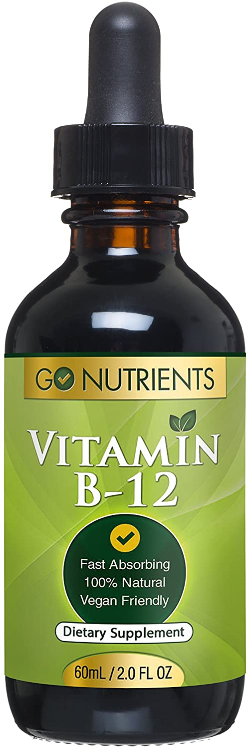 Vitamin B12 Sublingual Liquid Drops - Methylcobalamin 3000 mcg - Best Supplement to Increase Energy, Enhance Mood, Sharpen Focus and Boost Metabolism - Liquid Form for Fast Absorption, Vegan - 2 oz