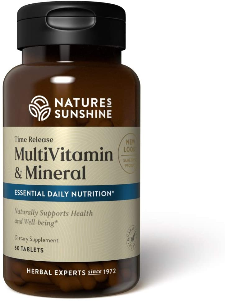 Nature's Sunshine Multiple Vitamin and Minerals Time Release 60 Tablets