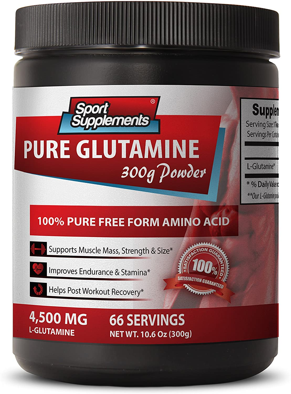 Energy Booster for Men - Pure GLUTAMINE Powder 4,500MG - Energy Boost Supplement Men - 1 Bottle (300g)