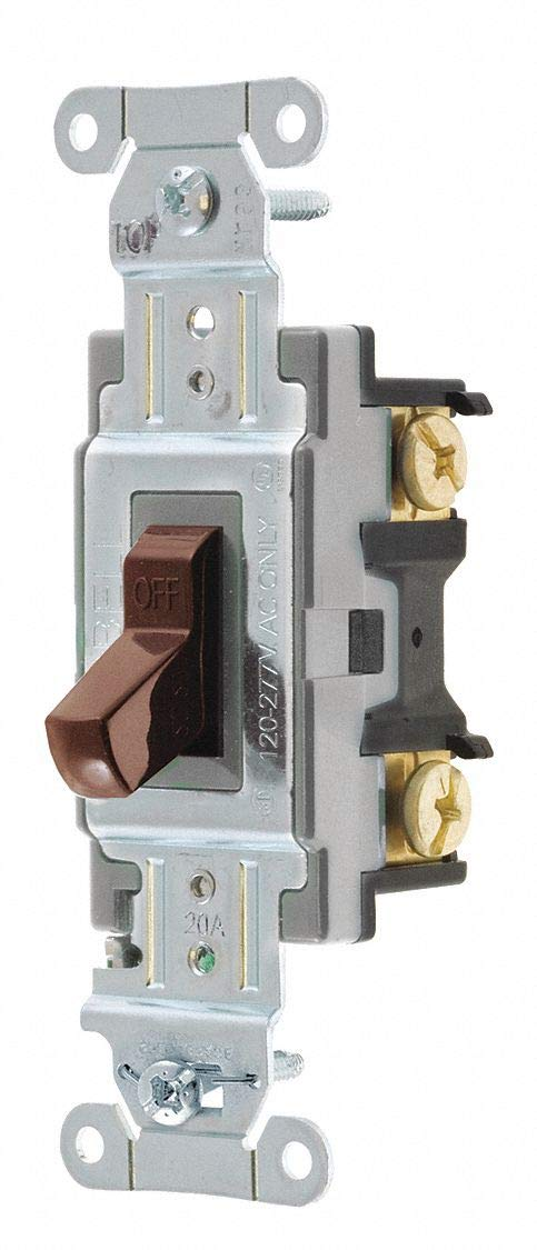 Hubbell Wiring Device-KELLEMS Wall Switch, Switch Type: 1-Pole, Switch Function: Maintained