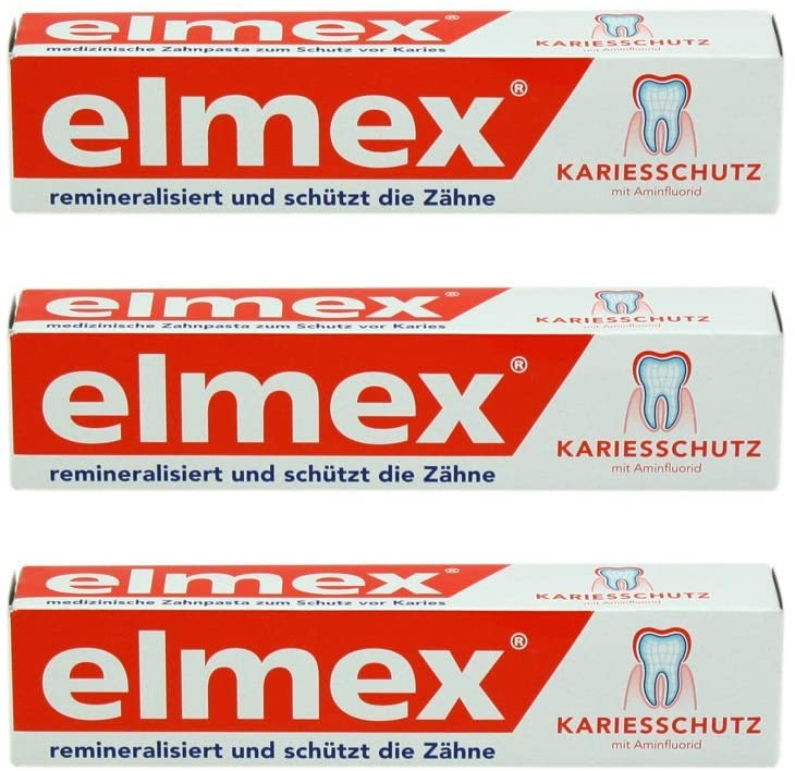 Caries Protection Toothpaste with Amine Fluoride 3 x 75ml