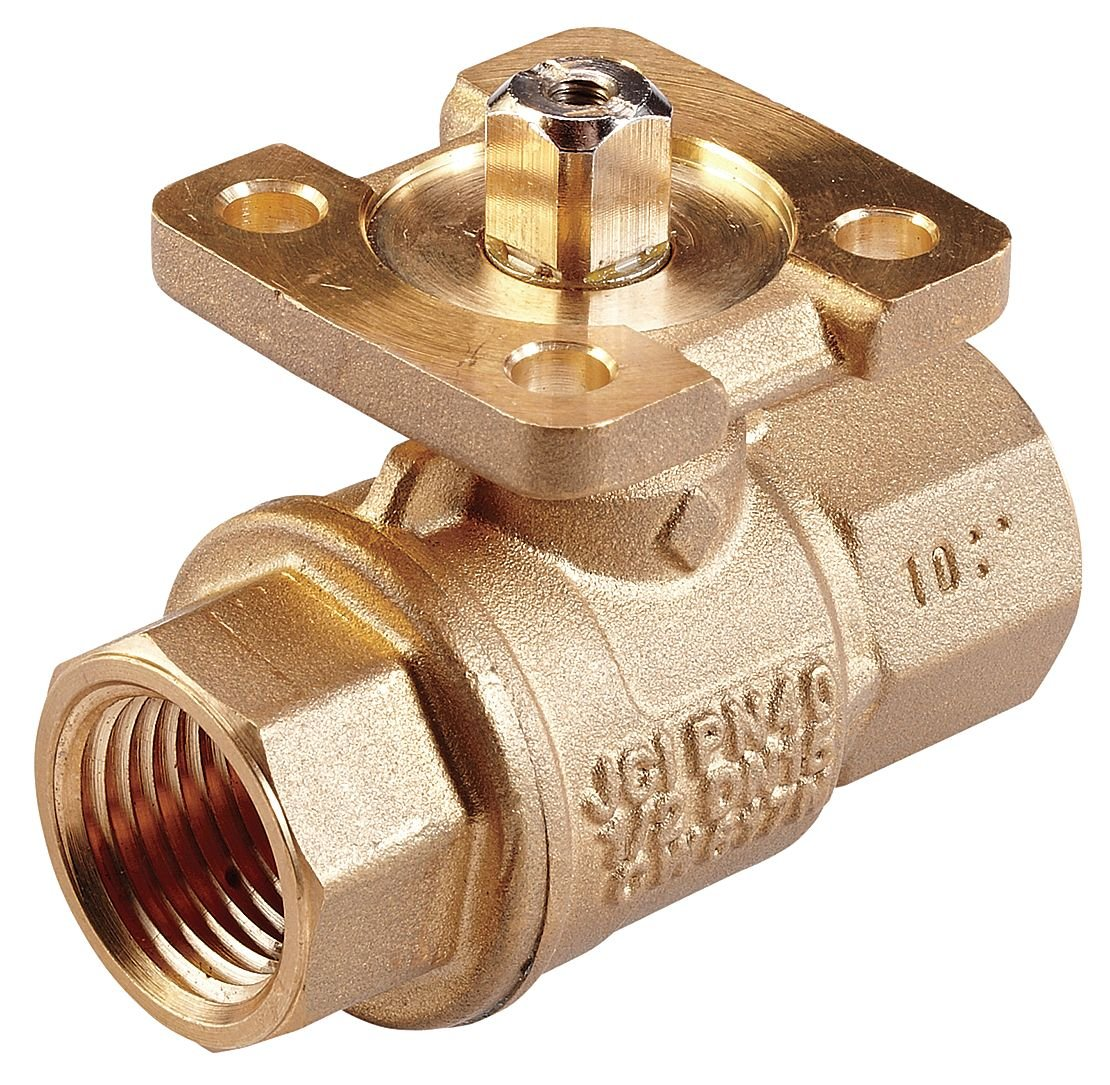 Johnson Controls VG1245ES Stainless Steel NPT Threaded End Connection Two-Way Ball Valves, 46.8 Cv Port, 1-1/2