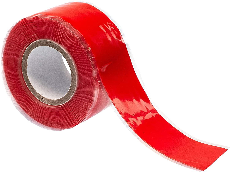 GTSE Twin Pack of Red Silicone Repair Tape, 10ft x 1 (3m x 25mm), Premium Self Adhesive Sealing Tape, Waterproof Rubber Tape, 2 Rolls